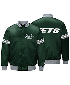 G-III Sports Men's New York Jets Draft Pick Starter Satin Jacket