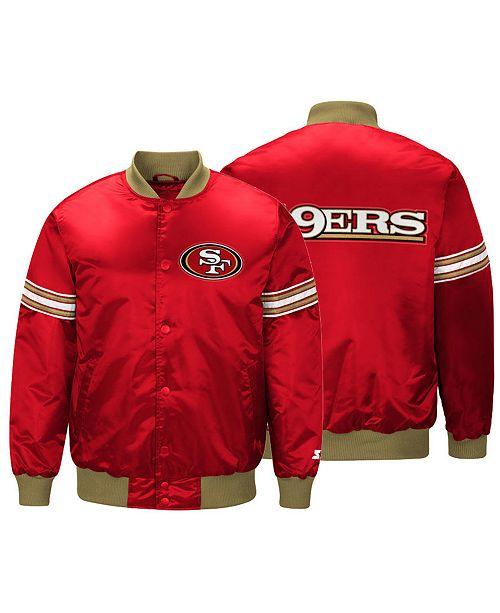 ... G-III Sports Men s San Francisco 49ers Draft Pick Starter Satin Jacket  ... 515ce8eed