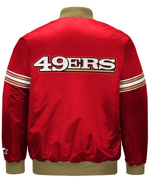 G-III Sports Men s San Francisco 49ers Draft Pick Starter Satin Jacket ... 625ab1eba