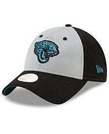 New Era Women's Jacksonville Jaguars Gray Glitter 9TWENTY Cap