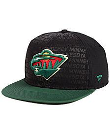 Authentic NHL Headwear Minnesota Wild Rinkside Snapback Cap