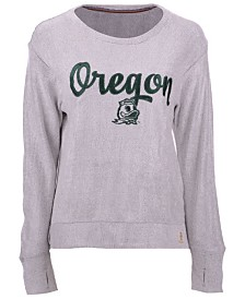 Pressbox Women's Oregon Ducks Cuddle Knit Sweatshirt