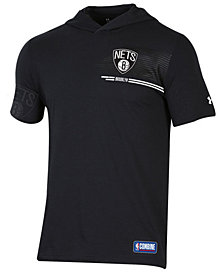Under Armour Men's Brooklyn Nets Baseline Short Sleeve Hooded T-Shirt