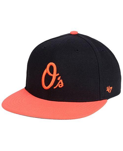 18c9237c5 Boys' Baltimore Orioles Basic Snapback Cap