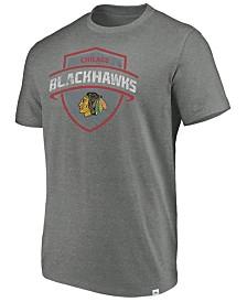 Majestic Men's Chicago Blackhawks Flex Classic Tri-Blend T-Shirt