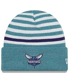 New Era Charlotte Hornets Striped Cuff Knit Hat
