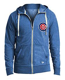 New Era Men's Chicago Cubs Sueded Full-Zip Hoodie