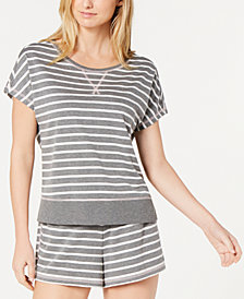 Jenni by Jennifer Moore Printed Knit Pajama Top, Created for Macy's