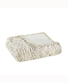 "Beauty rest Zuri Reversible Oversized 50"" x 70"" Electric Faux-Fur Throw Blanket"