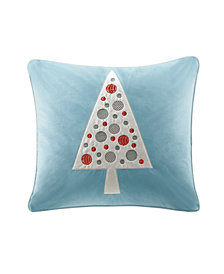 "Madison Park Velvet Novelty Tree 20"" X 20"" Square Pillow"