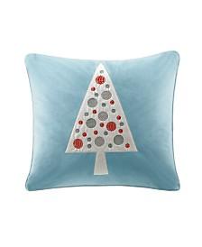 """Madison Park Velvet Novelty Tree 20"""" X 20"""" Square Pillow"""