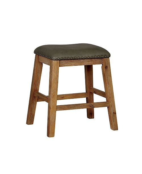 Furniture Calliope Natural Tone Leatherette BarsTool (Set of 2)