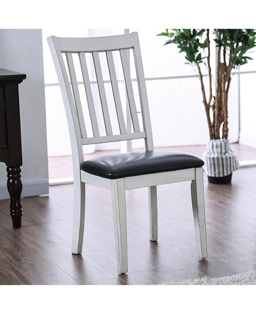 Furniture of America Pierson I Two-Tone Slatted Dining Chair