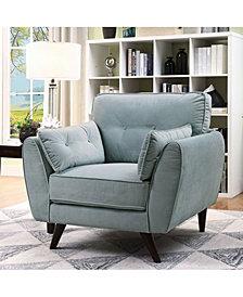 Haron Mid-Century Modern Tufted Chair
