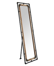 Wichter Industrial Pipe-Inspired Metal Standing Mirror