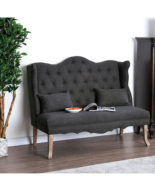 Furniture of America Janey Tufted Wingback Loveseat