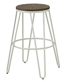 Mandy Farmhouse Bar Stool (Set of 2)