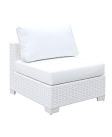 Arthur White Outdoor Armless Chair