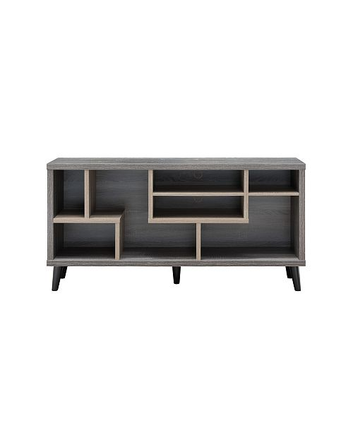 "Furniture of America Nahmene Two-Tone 60"" TV Stand"