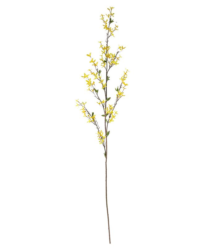 """Nearly Natural 55"""" Forsythia Artificial Flower, Set of 3"""