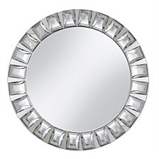 Jay Import Mirror Glass with Big Bead Charger Plate