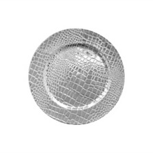 Jay Import Croc Silver Electroplated Set/4 Charger Plates