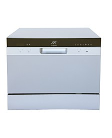 SPT Countertop Dishwasher with Delay Start & LED - Silver