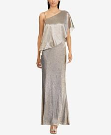 Lauren Ralph Lauren Ruffled-Overlay Gown