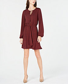 MICHAEL Michael Kors Printed Belted Dress, In Regular & Petite Sizes