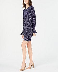 MICHAEL Michael Kors Printed Bell-Sleeve Dress, In Regular & Petite Sizes