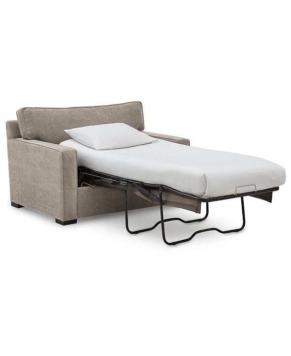"""Furniture Radley 54"""" Fabric Chair Bed, Created for Macy's"""