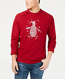 Original Penguin Men's Snowflake Pete Logo Graphic T-Shirt, Created for Macy's