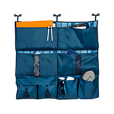 Honey Can Do 2-in-1 Bed Organizer, Blue