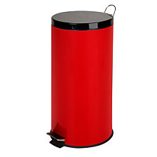 Honey Can Do 30L Step Trash Can, Ruby Red