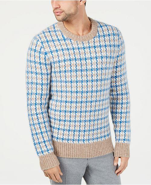 Michael Kors Men's Regular-Fit Guncheck Sweater