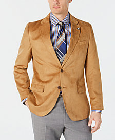 Nautica Men's Modern-Fit Faux-Suede Sport Coat