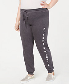 Disney Trendy Plus Size Mickey & Minnie Jogger Pants