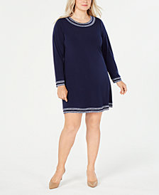 MICHAEL Michael Kors Plus Size Long-Sleeve Dress