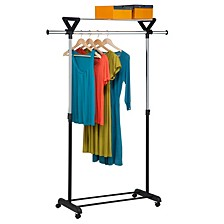 Top Shelf Garment Rack