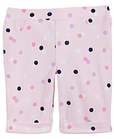 Epic Threads Little Girls Dot-Print Bermuda Shorts, Created for Macy's