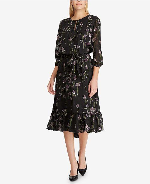 7280e7c02ad0c2 Lauren Ralph Lauren Floral-Print Jacquard Dress   Reviews ...