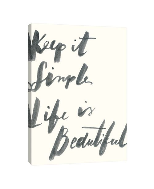 PTM Images Keep It Simple Decorative Canvas Wall Art