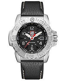 Luminox Men's Navy Seal Leather Strap Watch