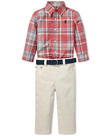 Polo Ralph Lauren Baby Boys Poplin Shirt & Stretch Jeans Set