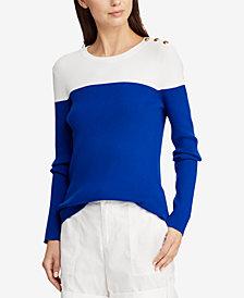 Lauren Ralph Lauren Colorblocked Sweater