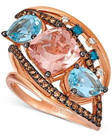 Crazy Collection® Multi-Gemstone (4-1/6 ct. t.w.) & Diamond (1/2 ct. t.w.) Ring in 14k Rose Gold