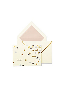 Kate Spade New York Notecard Set Thank You, Confetti Dot