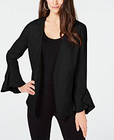 Alfani Petite Flutter-Sleeve Jacket, Created for Macy's