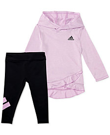 adidas Baby Girls 2-Pc. Melange Hoodie & Leggings Set