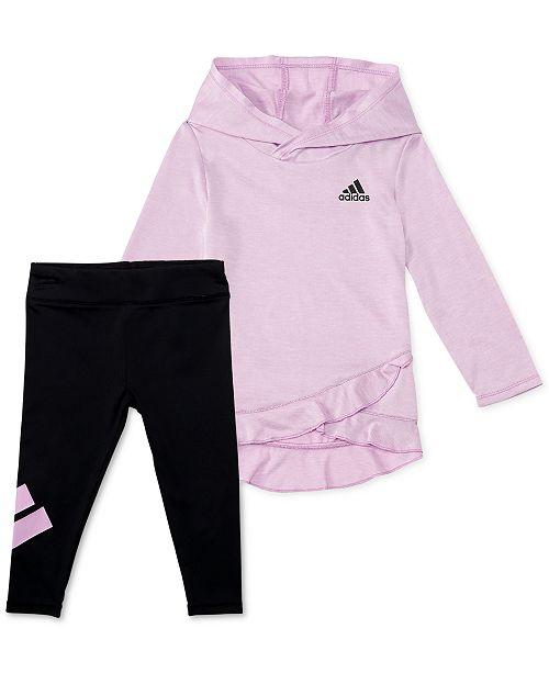 75ac8c60bf839f adidas Baby Girls 2-Pc. Melange Hoodie & Leggings Set & Reviews ...